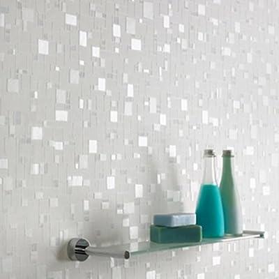 Shimmer' Wallpaper in Blue, Light Blue & White from wallpaper heaven