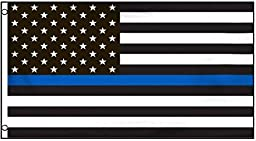 zooyoo? Thin Blue Line Flag 3ft x 5ft Nylon Material From Flags Unlimited
