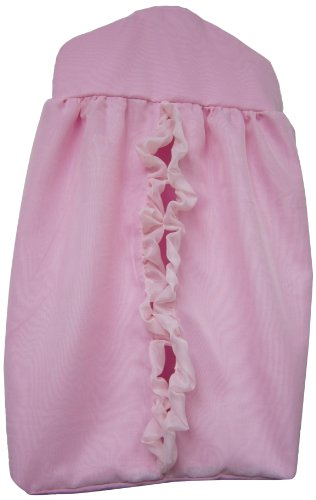 Baby Doll Layered Crib Diaper Stacker, Pink