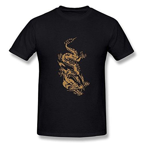 Wei-Jr Men'S Oriental Dragon Shirt L