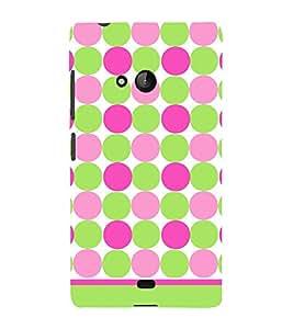 Dots Fashion Pattern Cute Fashion 3D Hard Polycarbonate Designer Back Case Cover for Microsoft Lumia 540 Dual SIM