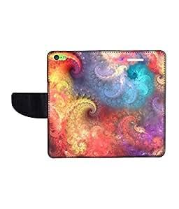 KolorEdge Printed Flip Cover For Apple IPhone 5C Multicolor -(43KeMLogo12332IPhone5C)
