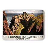Dunnottar Castle Stonehaven Station LNER LMS - Mouse Mat - Highest Quality Natural Rubber