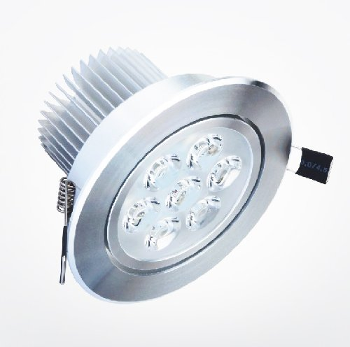10-Pack 7X1W 5500K-6500K Cool White Led Ceiling Light Under Cabinet Light Puck Light Downlight Spotlight Recessed Light Ac100-240V With Free Special Gift