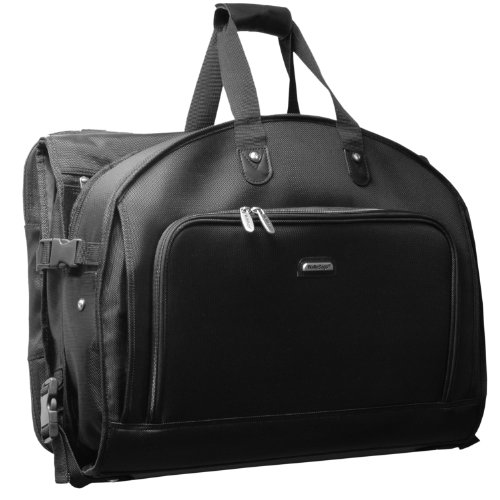 WallyBags 52 Inch Garmentote Tri-Fold with Shoulder Strap, Black, One Size (Shoulder Garment Bag compare prices)