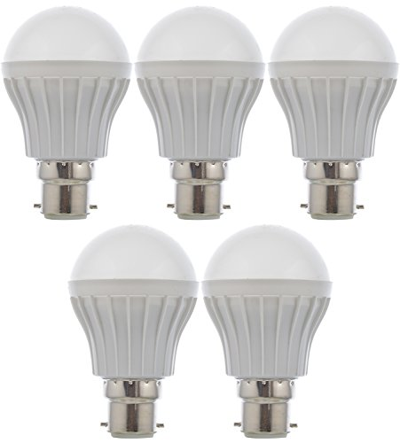 Rainz Gold 5 W LED Bulb (White, Pack of 5)