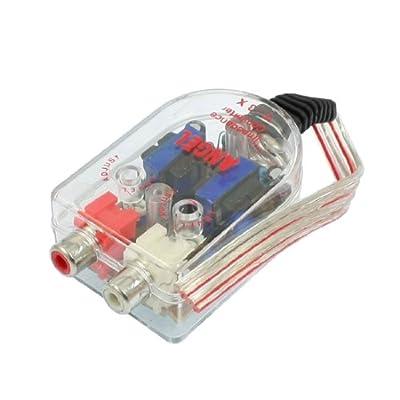 Auto Car Line Out 2 RCA Input Audio Impedance Converter