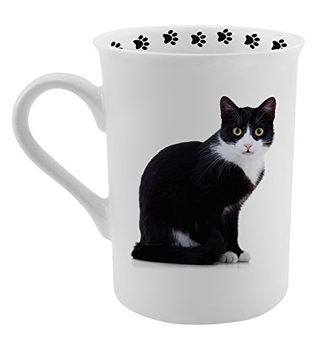 Dimension 9 Tuxedo Cat Coffee Mug, White (Black White Coffee Mug compare prices)