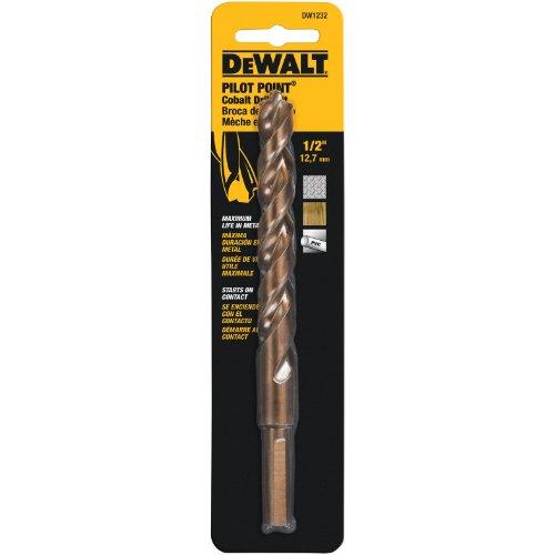 DEWALT DW1232 1/2-Inch Cobalt 3/8-Inch Reduced Shank Split Point Twist Drill Bit