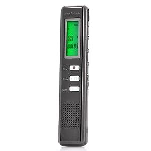 Digital Voice Recorder - Voice Activated Recording, Metal Design, 4GB