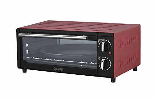 Pizza oven Mini oven 13,5l Mini oven 1300 Watt Oven timer Minibackofen Temperature controller 100-230 ° extra deep for larger pizza (Red)