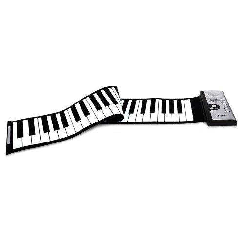 Schubert Piano roll up / Clavier roulant 61 touches MIDI avec sac de transport (30 chansons demos pré-installées , 16 canaux , entrée pour pédale de sustain,fonctionne sur piles ou secteur) - noir