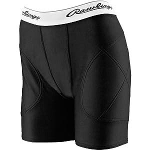 Rawlings Women's Sliding Shorts, Black, XS