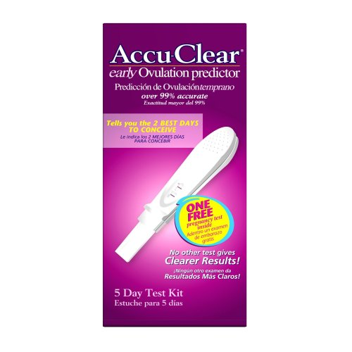 Accuclear Total Ovulation Line Test (5 Days + 1 Pregnancy Test)