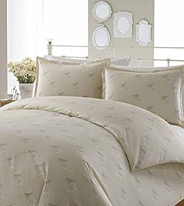 Amazon.com: Laura Ashley Nightingale Cotton Duvet Cover Set, Beige