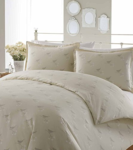 Laura Ashley Nightingale Cotton Duvet Cover Set, Beige, Twin front-1022116