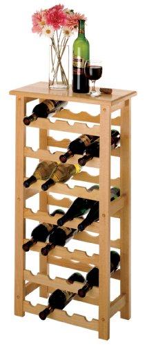 Imagen de Winsome Wood 28-Bottle Wine Rack, Natural