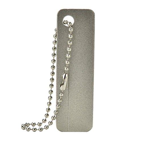 Happu-store(TM) Practical EDC Pocket Diamond Stone Steel Sharpener Keychain Knife Sharpen