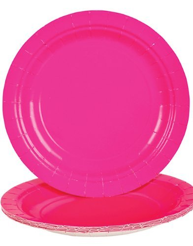 Hot Pink Dessert Paper Plates (25 pc)