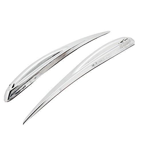 2-piezas-plata-tono-adhesivo-bank-coche-borde-seguridad-protector-de-parachoques-protector