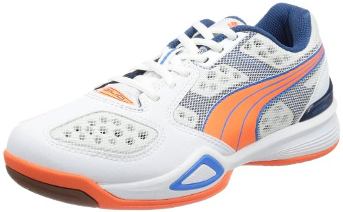Puma Women's Agilio Wn's Indoor Shoes White Weià (white-fluo peach-poseidon 01) Size: 8.5 (42.5 EU)