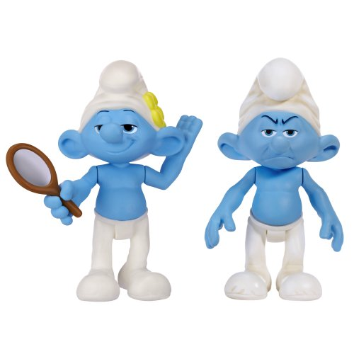 Smurfs Movie Basic Figure Pack Wave #2 Vanity Smurf And Grouchy Smurf - 1