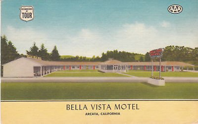 F7107 CA, Arcata Bella Vista Motel Postcard (Arcata Ca compare prices)