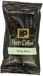 Peet's Coffee & Tea House Blend Ground Coffee, 2.5-Ounce Fractional Packs (Pack of 18)