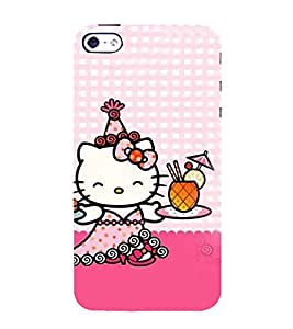 EPICCASE Cuty Kitty Mobile Back Case Cover For Apple iPhone 5s (Designer Case)