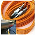3 Tons Car Tow Cable Towing Strap Rope with Hooks Emergency Heavy Duty 10 Feet from Zone Tech