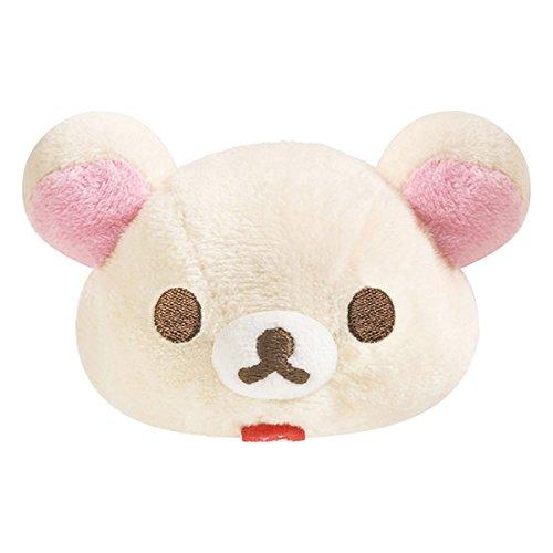 San-X Rilakkuma Mochi Pettan Handful Clear Mascot (Korilakkuma) - 1