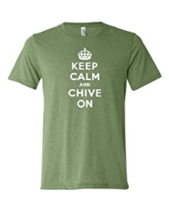 Adult Keep Calm And Chive On Triblend T-Shirt