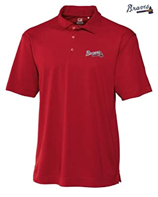 Atlanta Braves Mens DryTec Genre Polo Shirt Cardinal Red