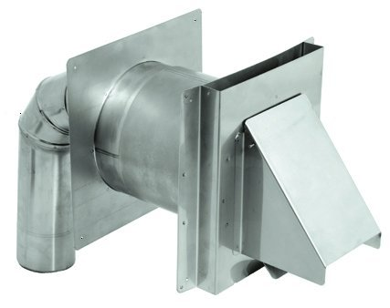 """Duravent Fswmkb3 Fasnseal 3"""" Wall Thimble With Termination Telescoping Elbow Appliance Adapter (Bosc"""