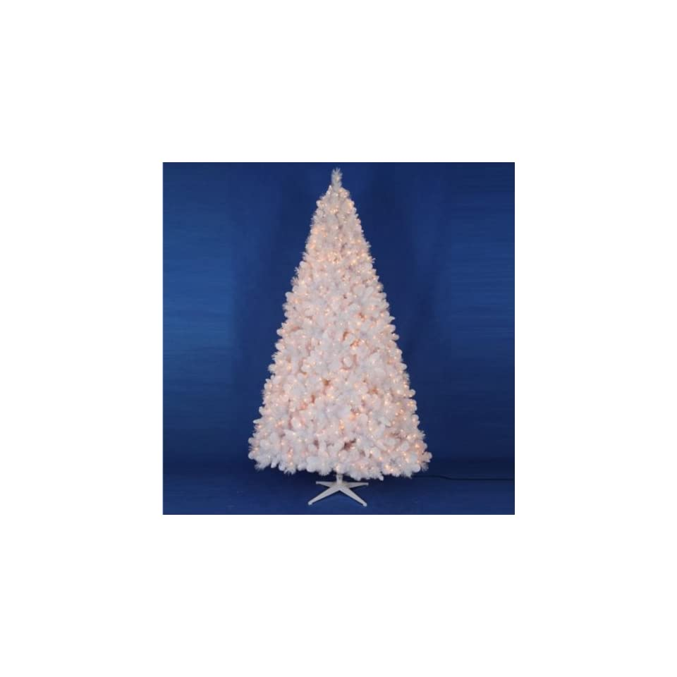 Trim a Home 9ft White Downy Christmas Tree with Clear Lights