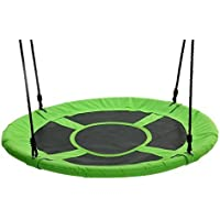 "Tree Swing Giant 40"" Saucer Swing, Green - Swing With Friends, Children's Swing, Easy Installation"