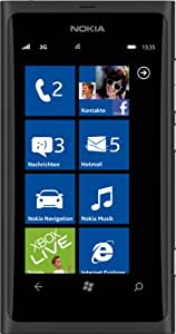 Nokia Lumia 800 Smartphone (9,4 cm (3.7 Zoll) AMOLED Clear Black-Touchscreen, Micro-SIM only, Windows Phone Mango OS, 8 MP Kamera) schwarz