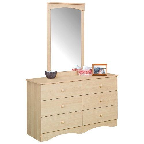 Alegria Natural Maple 6-Drawer Double Dresser