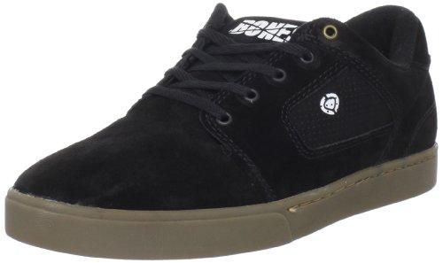 C1RCA Men's Talon Skate Shoe,Black/Dark Gum,6.5 M US
