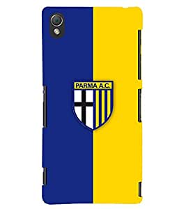 TOUCHNER (TN) Blue Yellow Logo Back Case Cover for Sony Xperia Z3::Sony Xperia Z3 D6653 D6603