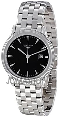 Longines Flagship Black Dial Stainless Steel Mens Watch L47164526