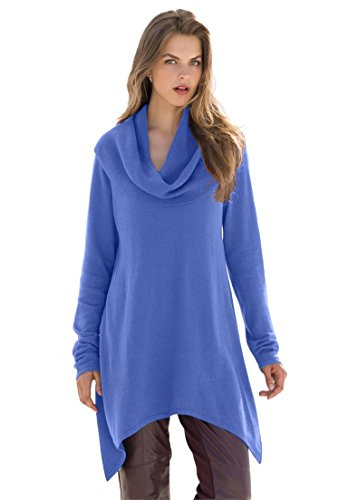 Jessica London Women's Plus Size Cowl Neck Sweater Deep Periwinkle,22/24 (Cowl Sweater Plus Size compare prices)
