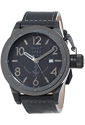 CCCP Men's CP-7017-02 Delta Analog Display Japanese Automatic Black Watch