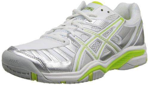 ASICS Women's Gel-Challenger 9 Tennis Shoe,Silver/Neon Lime/White,11 M US ASICS B0088RHRTO