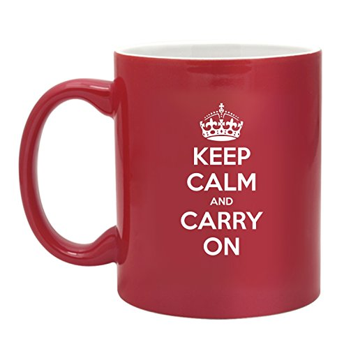 Two Tone Keep Calm And Carry On-Coffee Mug-11 Ounce From The Gag