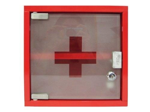 zeller-18467-botiquin-metalico-25-x-12-x-25-cm-color-rojo