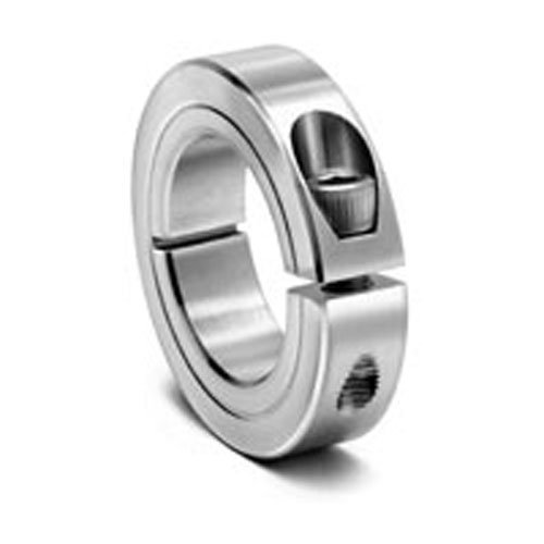"""Climax Metal 1C-062-Z One-Piece Clamping Collar, Zinc Plating, Steel, 5/8"""" Bore, 1-5/16"""" OD, 7/16"""" Width"""