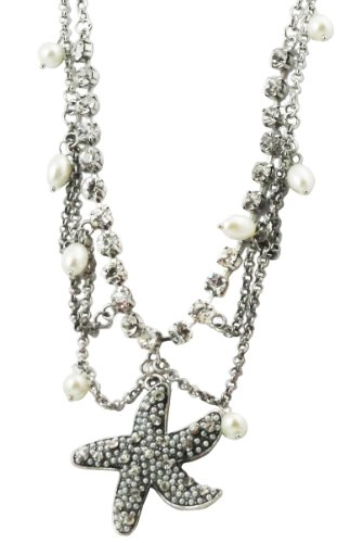 Faux Pearl Multichain Necklace