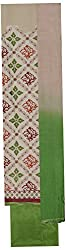 Amour India Women's Unstitched Ladies Suit Heavy Thread Work (Beige and Green) Dress Material