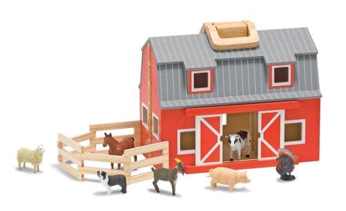Buy Low Price Melissa & Doug Melissa & Doug Fold and Go Mini Barn Figure (B001QBTAOY)